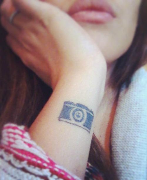 Wrist Camera Tattoo
