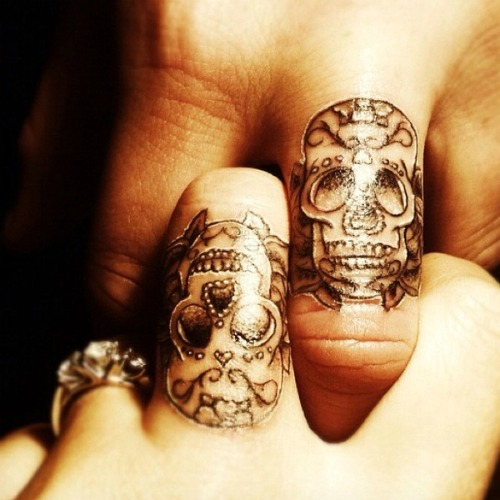 day of the dead couple tattoo