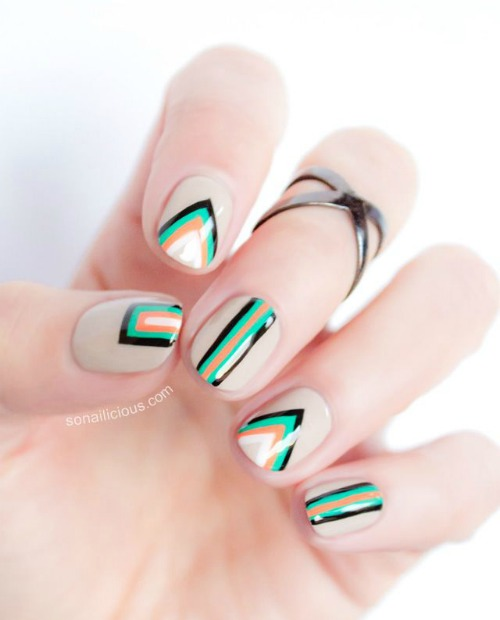 40 Beautiful Geometric Nail Art Ideas Youll Love Always In Health