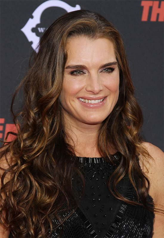 Brooke Shields Curly Hair with Bangs