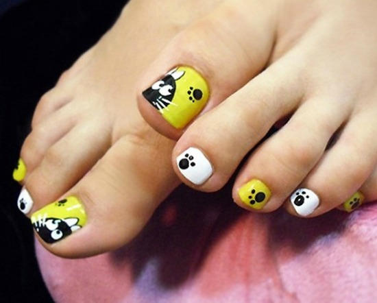 35 Simple And Easy Toe Nail Art Design Ideas You Can Try Out At Home Dog Paw