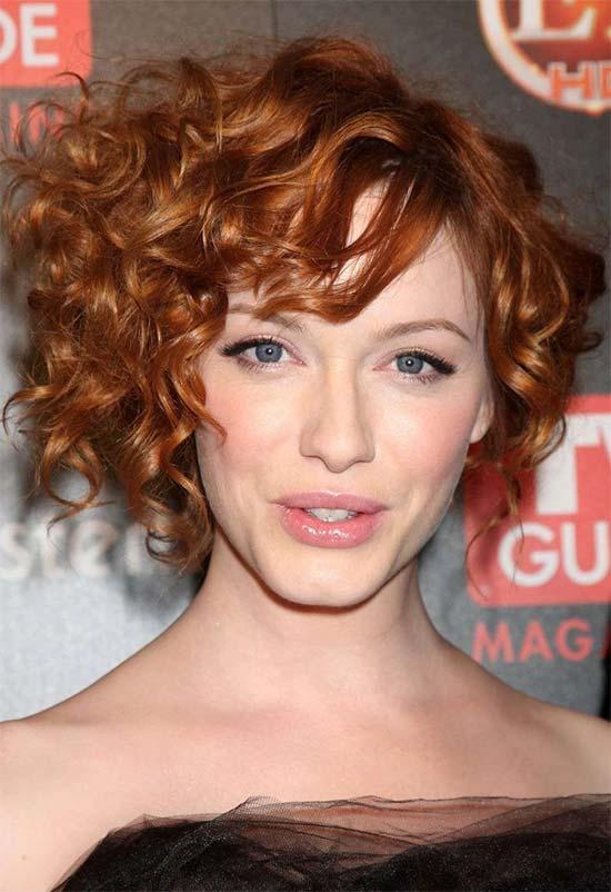 Christina Hendricks Curly Hairstyles for Fine Hair