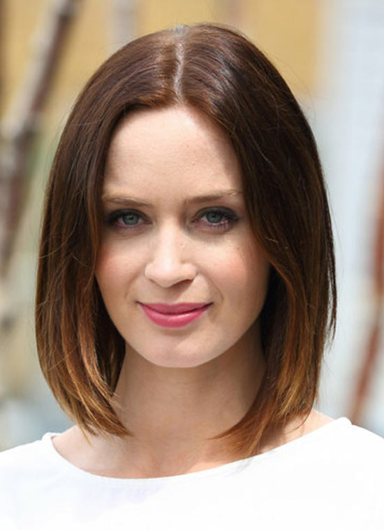 Emily Blunt Short Ombre Hair