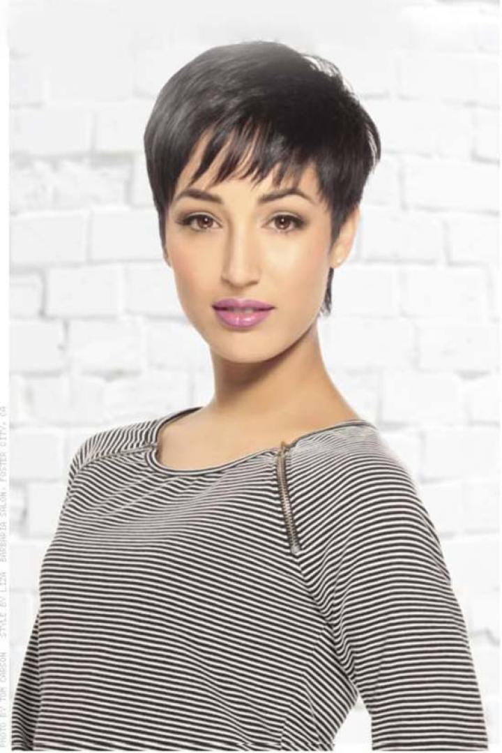 Irma Hirthe short fringe hairstyle