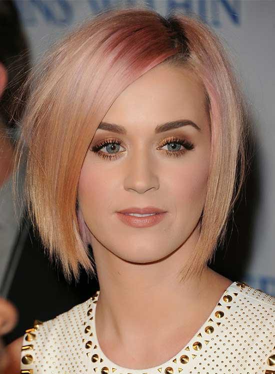 Katy-Perry Short Blonde Hairstyles