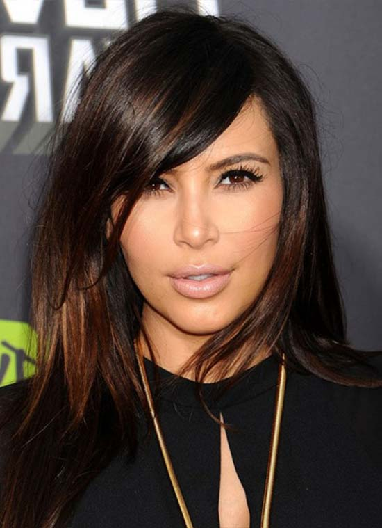 Kim Kardashian Short Hair with Bangs