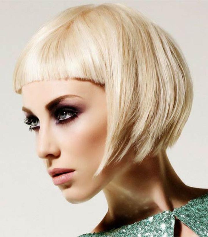 Nicole Richie short fringe hairstyle