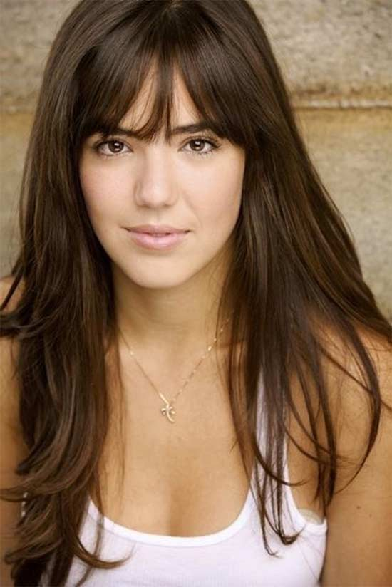 Odette annable long hair style with bangs