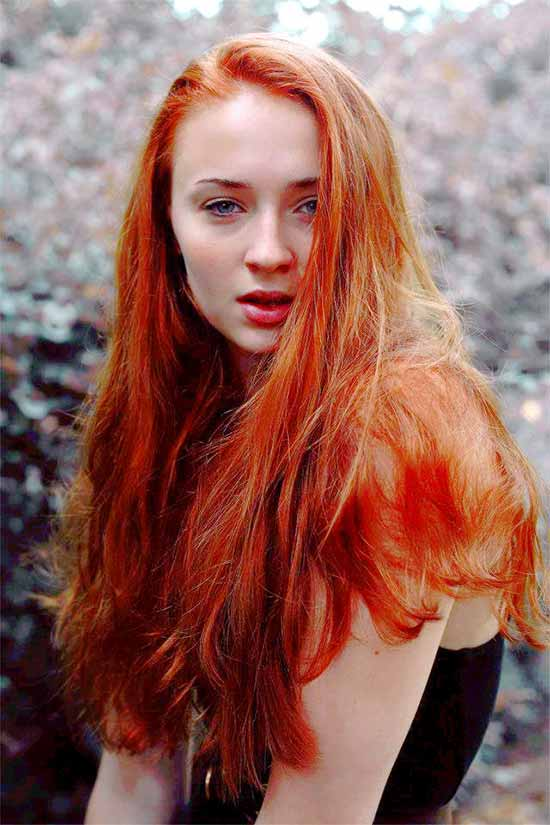 Sophie Turner RED Hair Styles