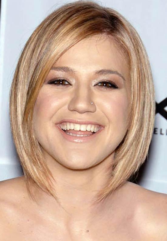 Kelly Clarkson Long Bob Hairstyles