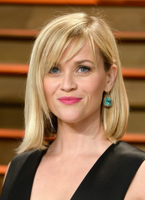 Reese Witherspoon Short Blonde Hair with Bangs