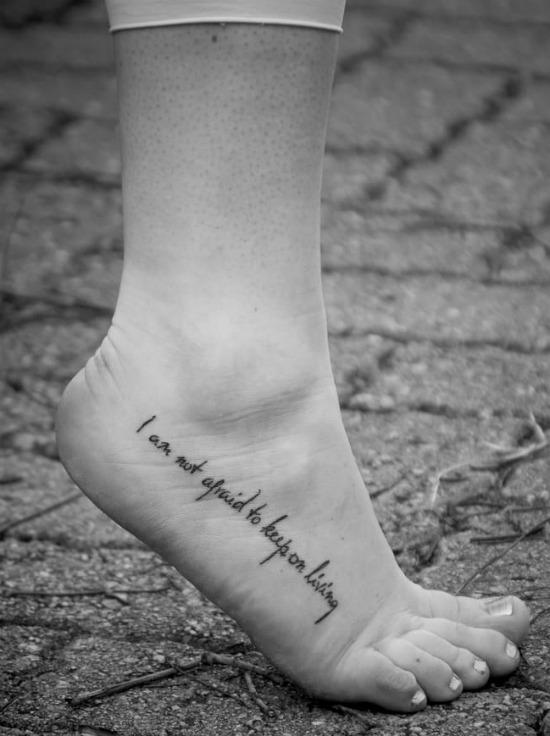 i am not afraid to keep on living