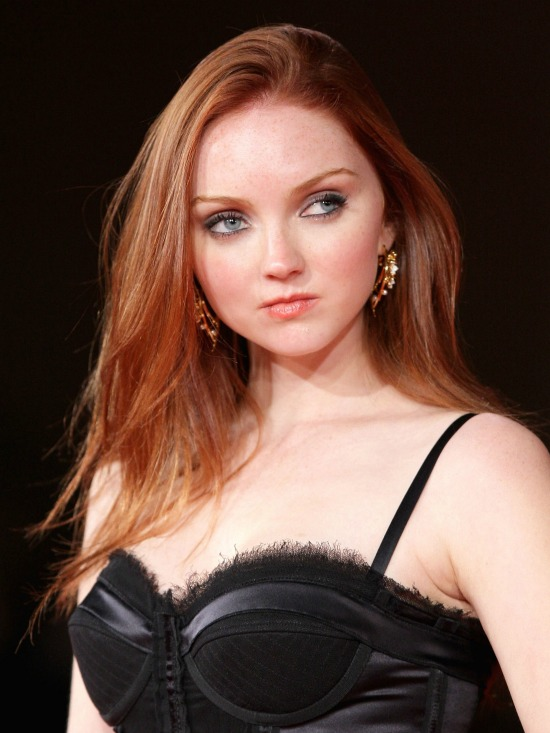 Lily Cole Medium Layered Hairstyle