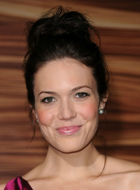 Mandy Moore Messy Updo