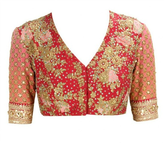 Floral Printed And Embroidered Tulle Sari With Gulmarg Flowers Blouse