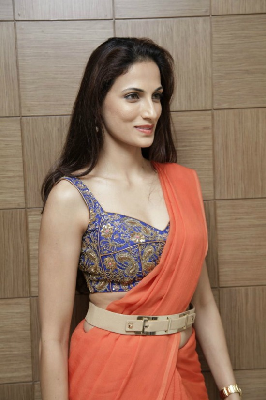 Shilpa Reddy In Prince Cut Blouse
