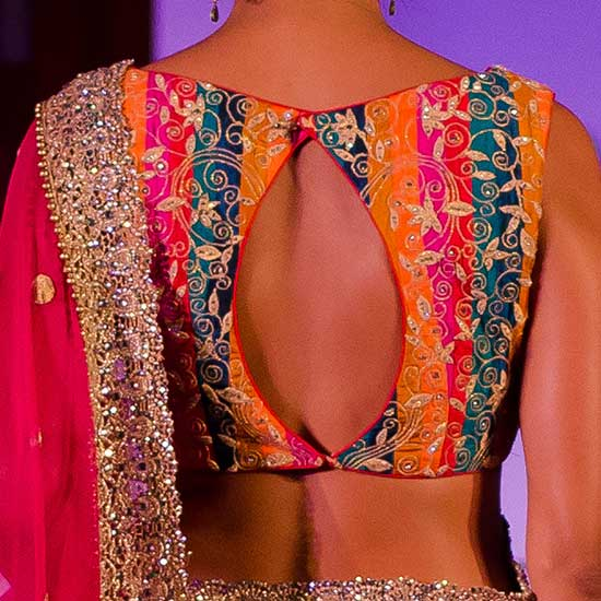 Multi-Color-Embroidery-Blouse-With-Back-Long-Keyhole