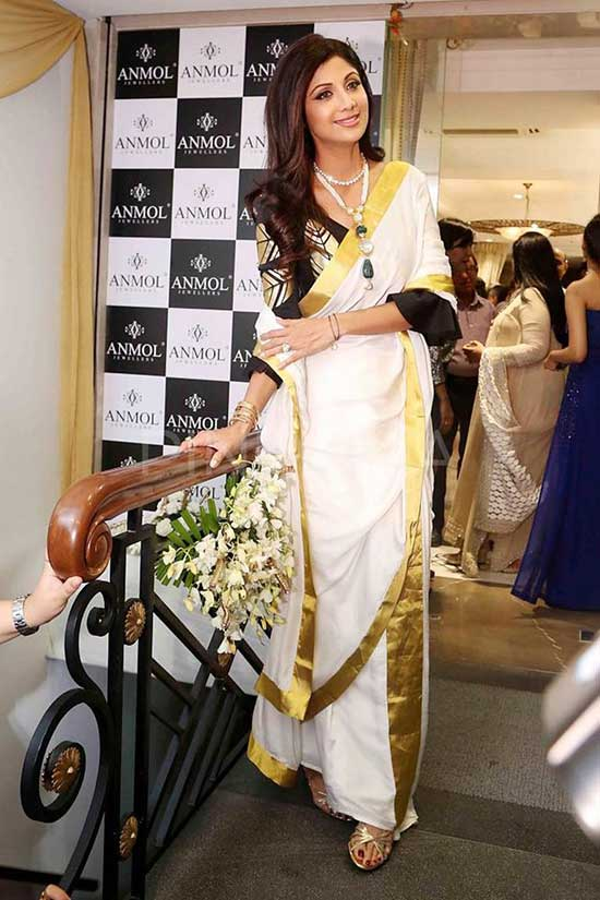 Shilpa Shetty in Kerala saree