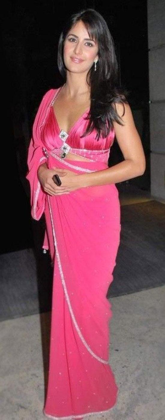 katrina kaif in pink Saree