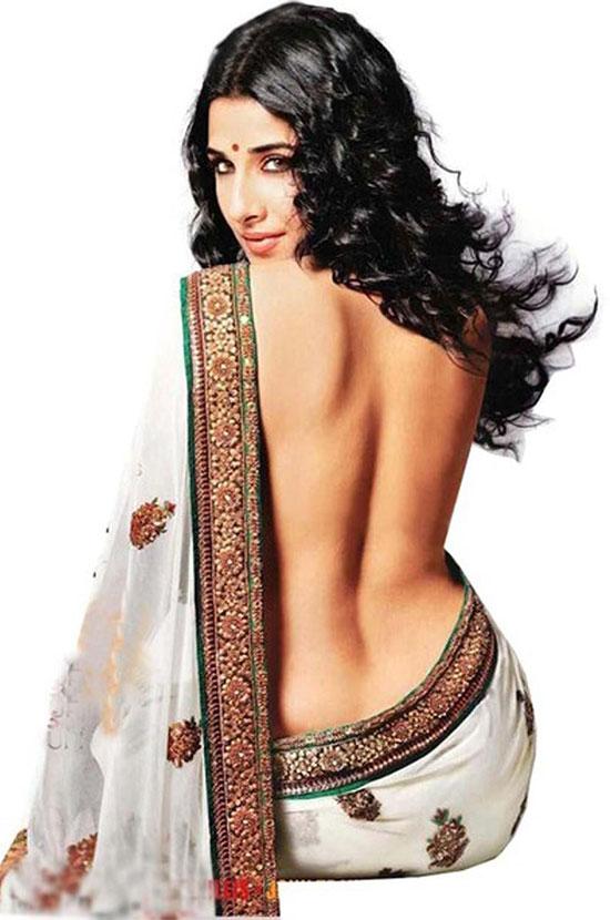 vidya-balan-in- White purpul saree