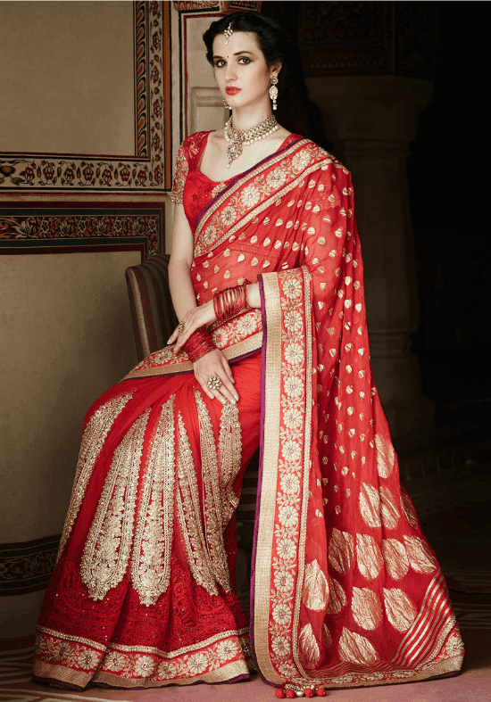 Designer Banarasi Embroidery Saree With Different Color Combinations With Intricate Designs And Zari Embellishment