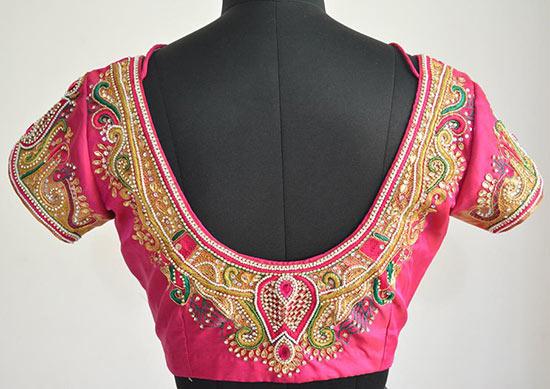 stone work embroidery sarees