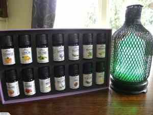 Metal Aromatherapy Diffuser + 14 Oils Gift Pack