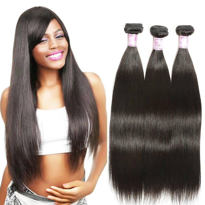 Beautyforever Brazilian Straight Hair 3Bundles Deals 100
