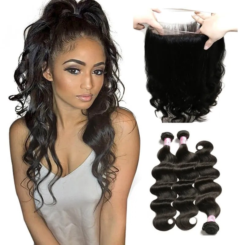 Beautyforever 360 Lace Frontal Closure With Body Wave Wet