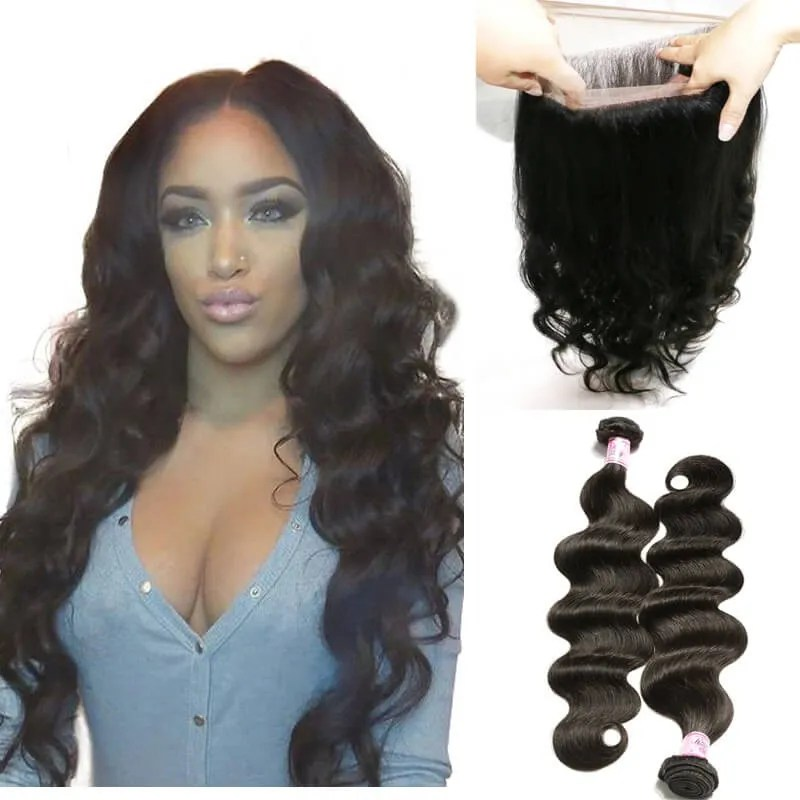 Beautyforever 360 Lace Frontal Body Wave With 2Bundles