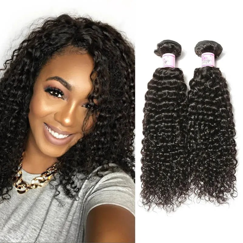 Beautyforever Premium Brazilian Curly Hair Weaves 4Bundles