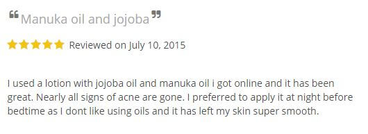 Manuka oil acne reviews - 1