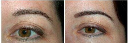 Powdery Technique Healed Eyebrow Tattoo Soft Fill Before And After Permanent Eyebrows Not