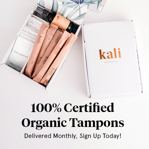Kali organic tampons subscription box delivery monthly period box free coupon - best subscription boxes - beauty box subscriptions - mom subscription box - subscription boxes for moms - unboxing subscription box review   beautyiscrueltyfree.com