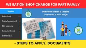 Change Ration Shop for part Family (FORM 13) - Documents Required, Steps