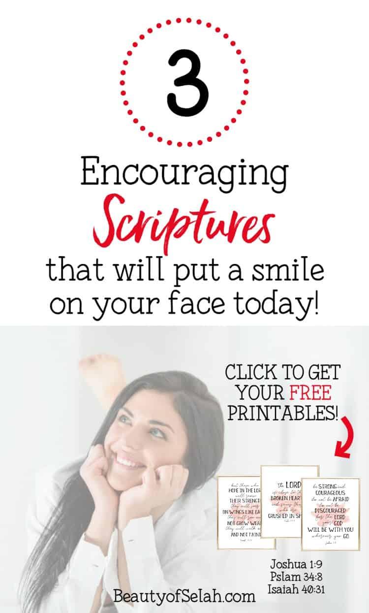 3 Free Encouraging Verse Printables