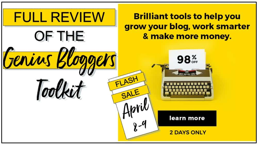 Full Review of the Genius Bloggers Toolkit April 2019