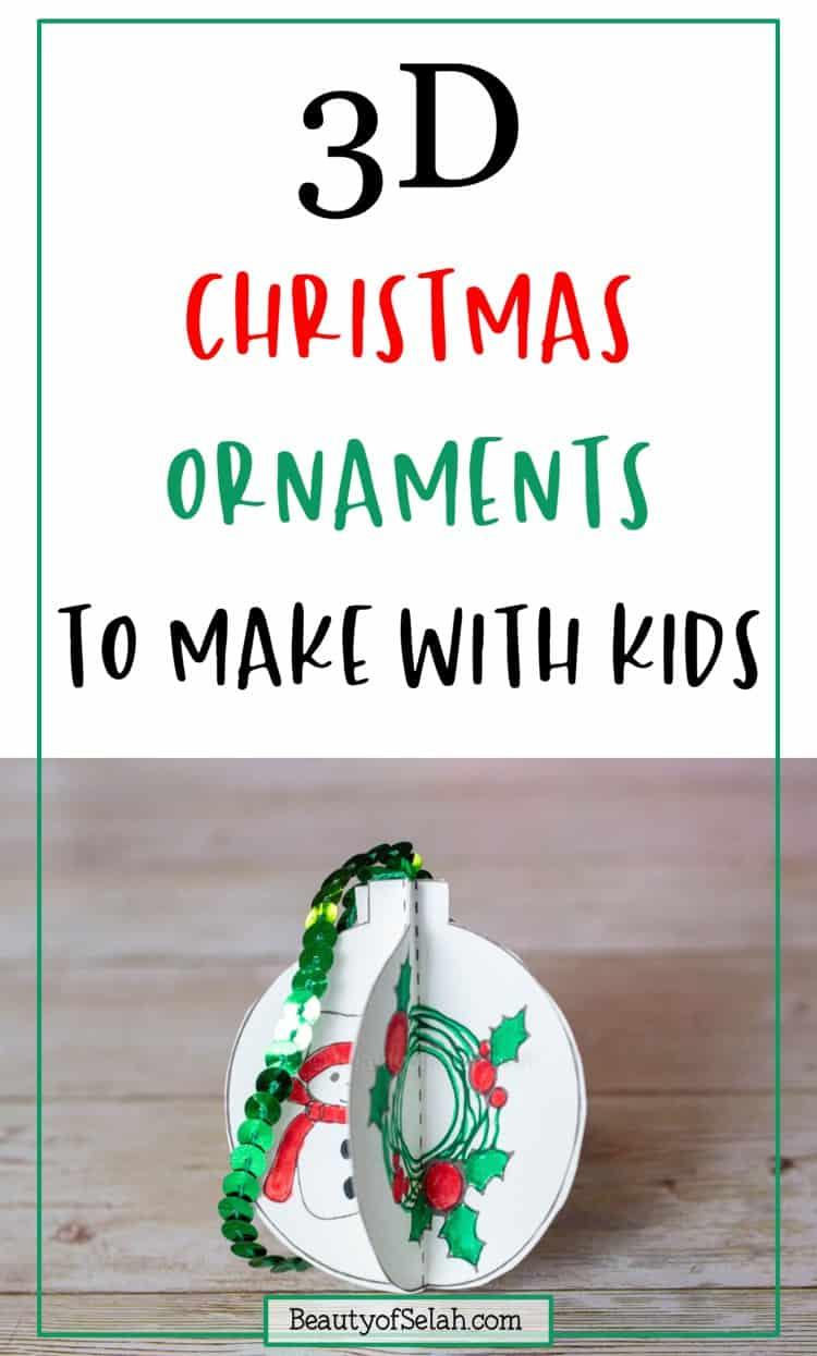 Kid Friendly DIY ornaments