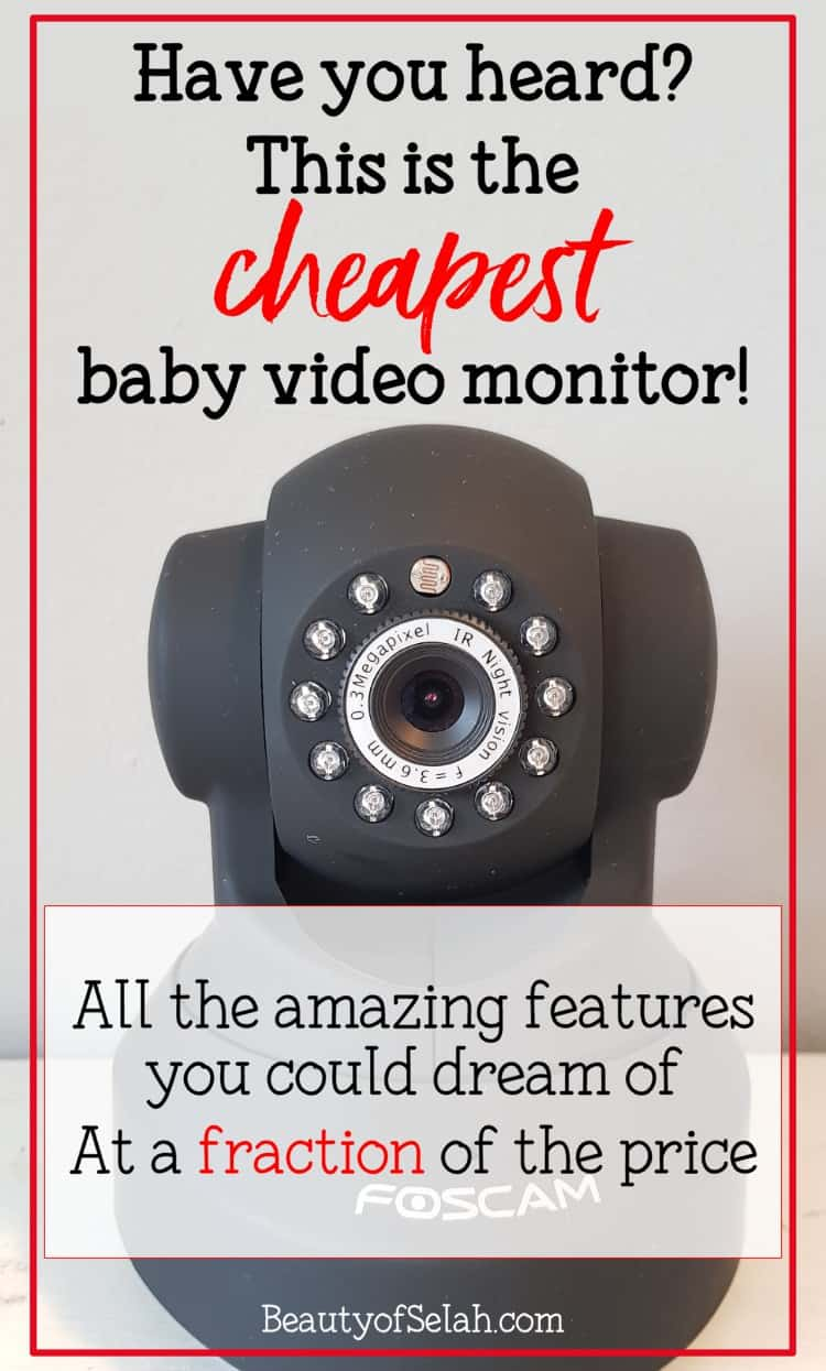 This is the cheapest video baby monitor