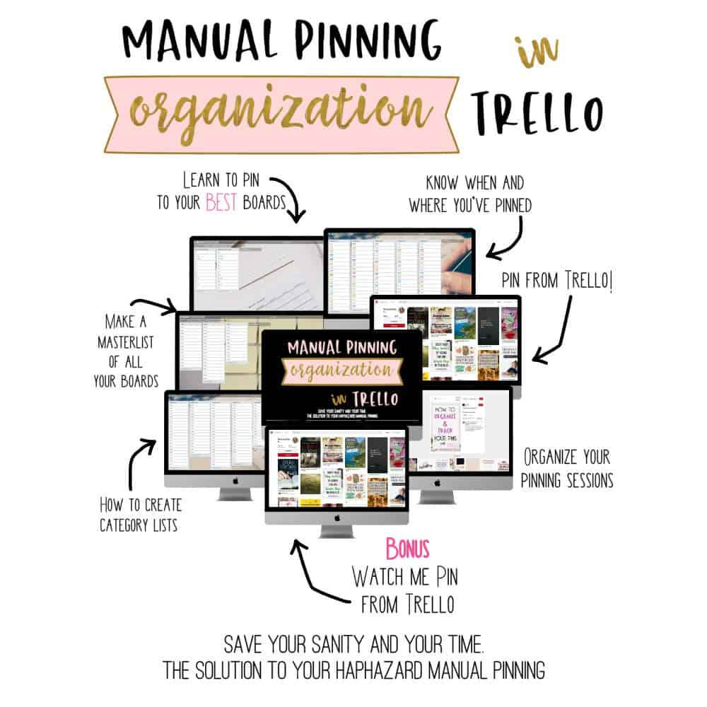 manual pinning organizationin trello
