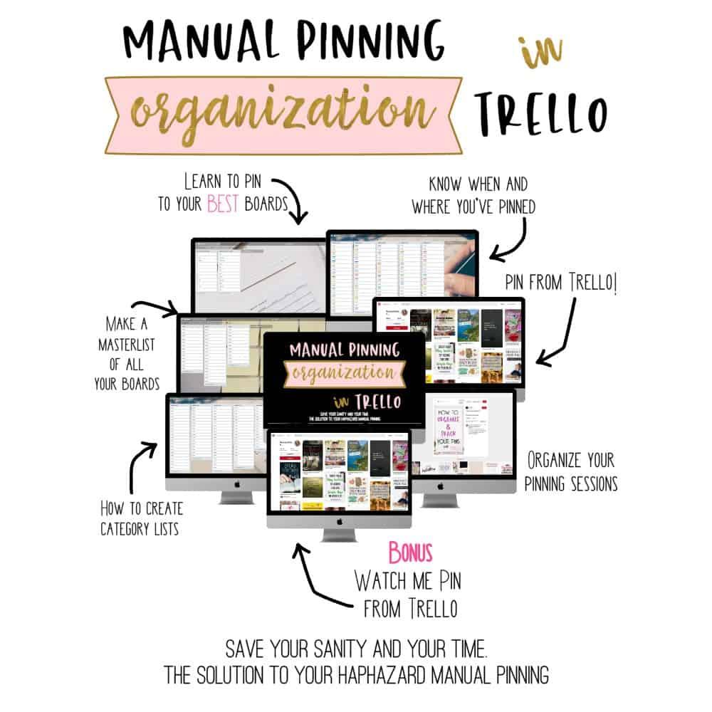 manual pinning organizationin trello
