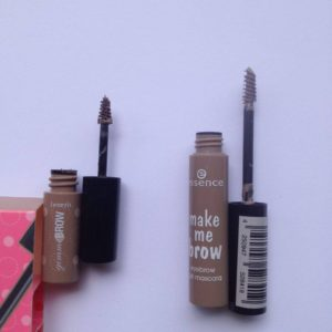 Essence Make Me Brow vs. Benefit Gimme Brow Dupe