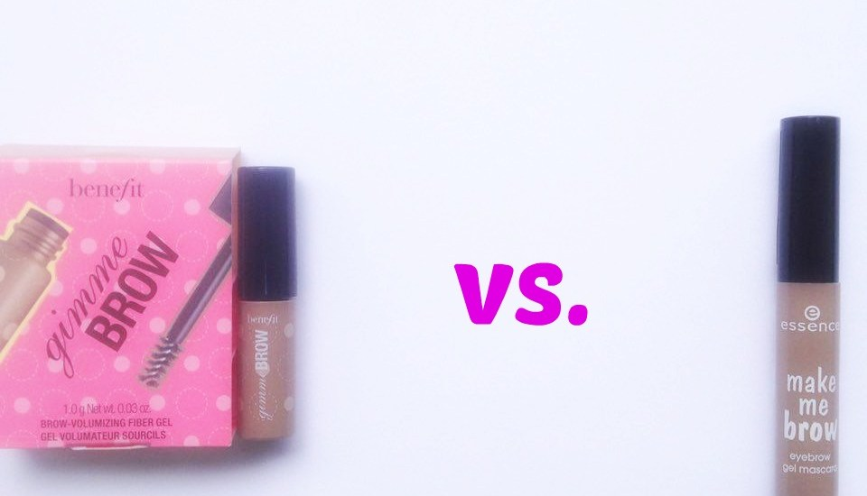 Essence Make Me Brow vs. Benefit Gimme Brow