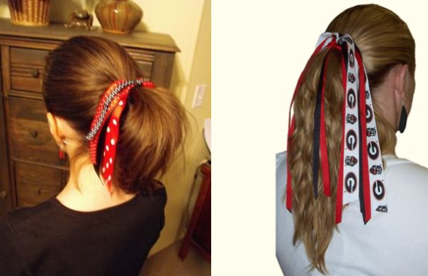 Ribbon ponytail holder
