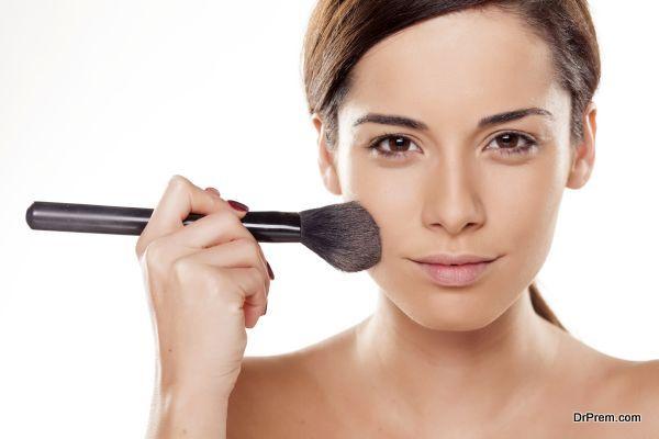 face powder application