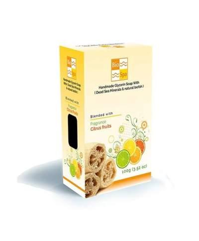 Sapun natural cu glicerina si aroma de citrice(Cu minerale din Marea Moarta si Lufa naturala)