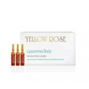 YELLOW ROSE <br /> Anticeliulitinės ampulės su liposomomis – liposomes body slimming & firming bio – complex, 9ml x 18