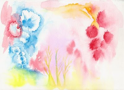 Watercolor Tablecloth