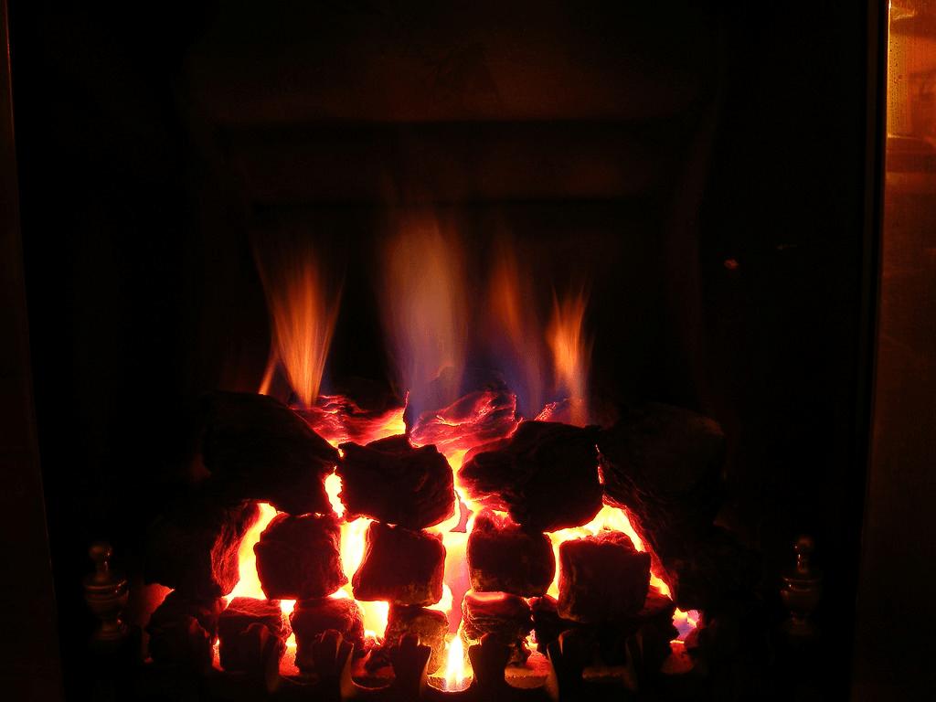 fireplace, heater, warm, winter
