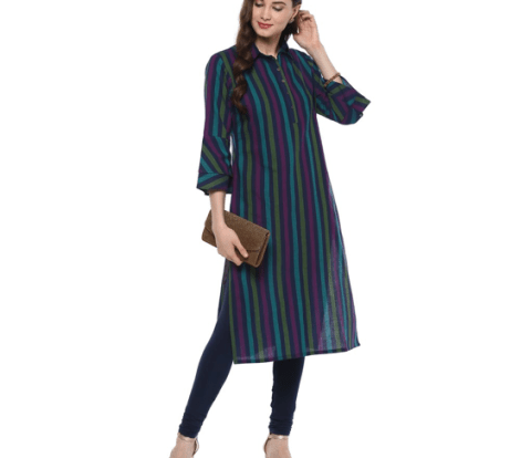 vertical stripes, ethnic wear